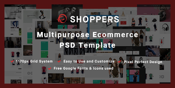 Shoppers - Multipurpose Ecommerce PSD Template            TFx
