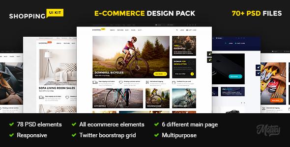 Shopping – multipurpose responsive e-commerce PSD template            TFx