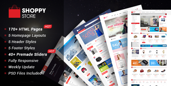 ShoppyStore - Multipurpose eCommerce HTML5 Template            TFx
