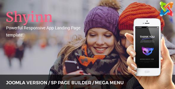 Shyinn – Responsive App Landing Joomla Theme            TFx