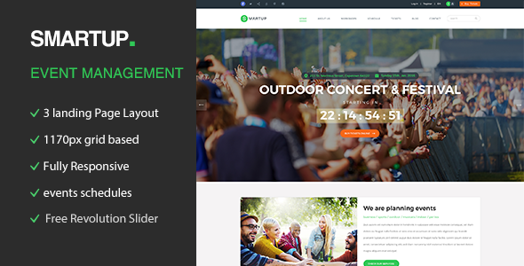Smart Up - Conference & Event Management WordPress Theme            TFx