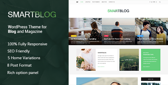 SmartBlog – A Responsive WordPress Blog Theme            TFx