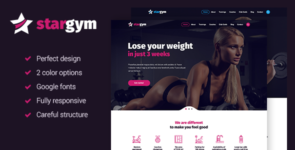 Stargym - Responsive Gym & Fitness HTML5 Parallax Template            TFx