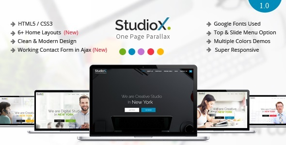 StudioX - One Page Parallax Joomla Template            TFx