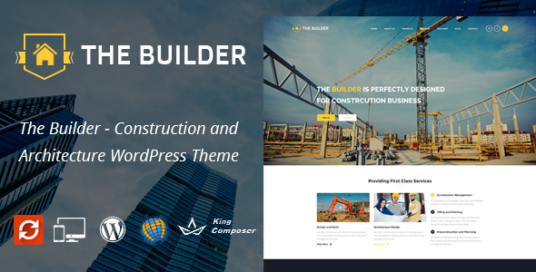 The Builder Responsive WordPress Theme for Construction and Builders            TFx