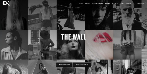 The Wall || Photography Portfolio Template            TFx