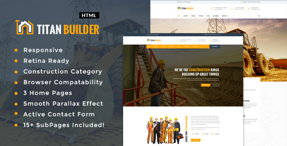 Titan Builders : Construction HTML Template            TFx