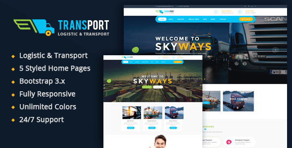 Transport - Logistics / Transportation Business HTML Template            TFx