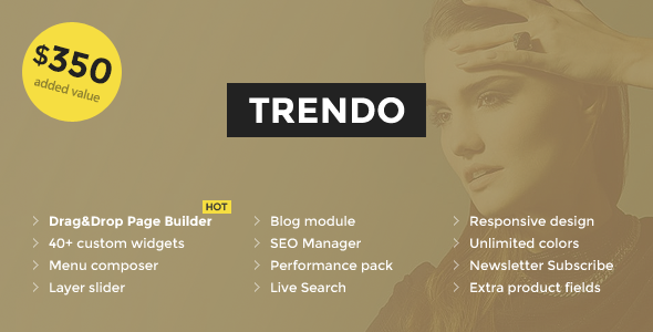 Trendo - Minimalistic Fashion Store OpenCart Theme            TFx