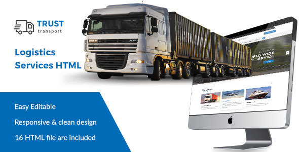 Trust Transport - Transportation and Logistics HTML Template            TFx