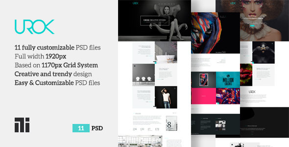 UROK - Creative Multipurpose PSD Template            TFx