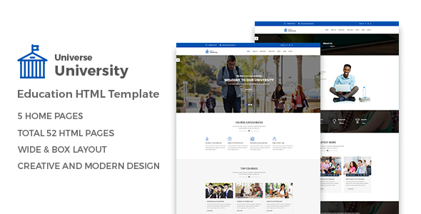 Universe – Education HTML Template            TFx
