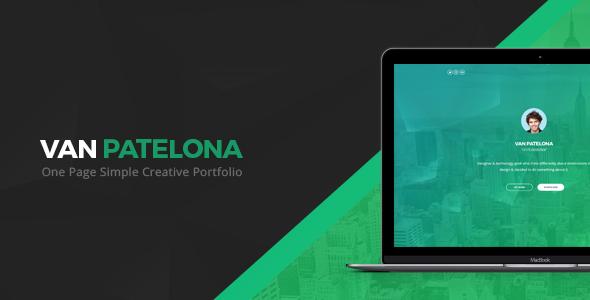 Vanpatelona - One Page Simple Creative Portfolio            TFx