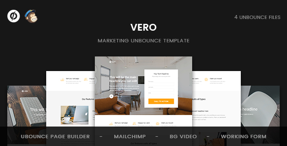 Vero - Marketing Unbounce Template            TFx
