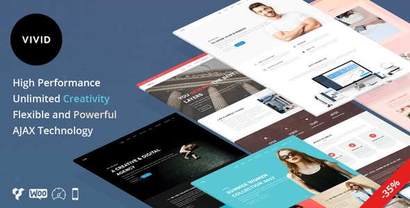 Vivid - Unique Multipurpose Theme For Creative Portfolio & Businesses            TFx