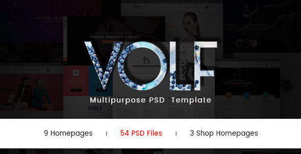 Volf – Creative  Multipurpose PSD Template            TFx