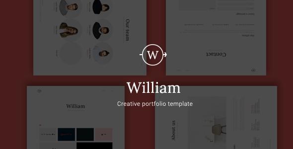 William - Creative Portfolio Template            TFx
