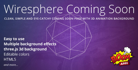 Wiresphere - Creative Coming Soon Template            TFx