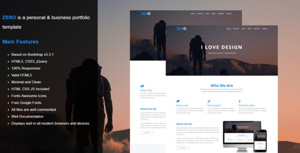 Zero - Personal & Business Portfolio Template            TFx