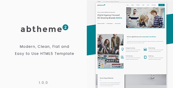 abtheme2 – Multipurpose Modern, Clean and Easy to Customize HTML5 Template            TFx