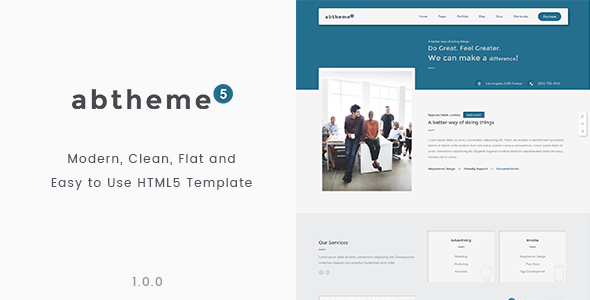 abtheme5 – Multipurpose Modern, Clean and Customizable HTML5 Template            TFx