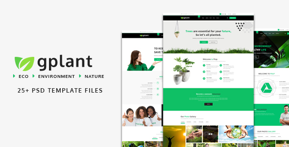 gPlant - Multipurpose ECO, Natural & Environmental PSD Template            TFx