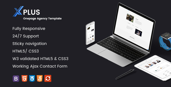 xPlus- Responsive Onepage Agency Template            TFx