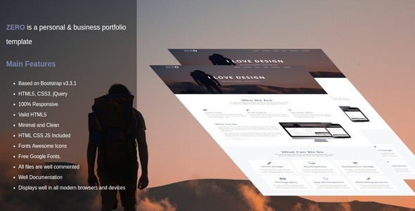 zero is a personal & business portfolio template            TFx