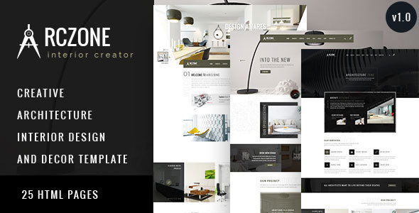 ARCZONE - Interior Design, Decor, Architecture HTML Template            TFx