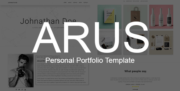 ARUS - Personal Portfolio Template            TFx