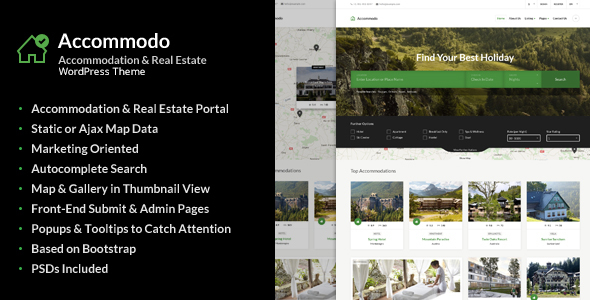 Accommodo - Accommodation Travel WordPress Theme            TFx