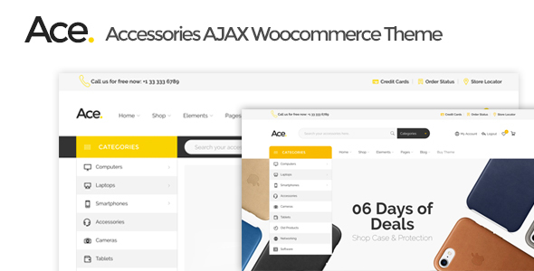 Ace - Accessories AJAX Woocommerce Theme            TFx