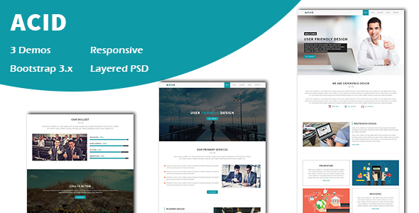 Acid – Multipurpose Responsive One page HTML Template            TFx