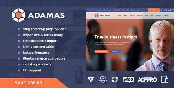 Adamas - Advanced Business WordPress Theme            TFx