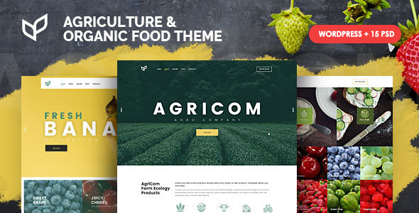 Agricom - Agriculture & Organic Food WordPress Theme Pack            TFx