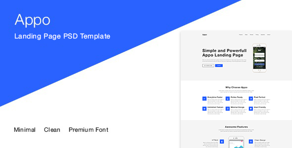 Appo Landing Page PSD Template            TFx