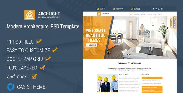 ArchLight – Modern PSD Template            TFx