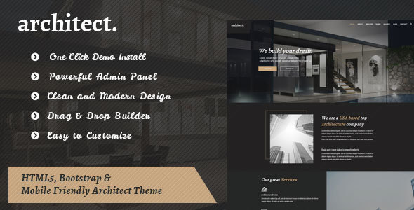 Architect - Bootstrap Template for Architecture            TFx