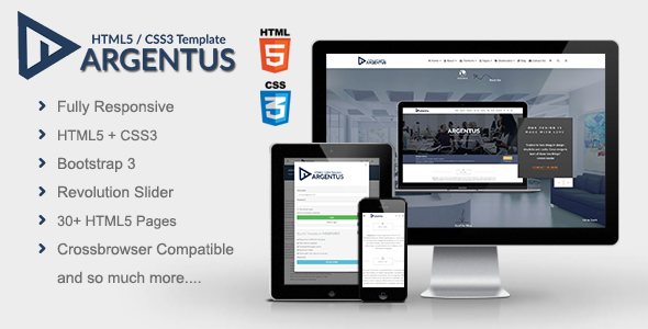 Argentus - Responsive HTML5 / CSS3 Template            TFx