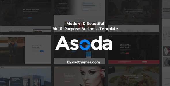 Asoda - Multi-Purpose Responsive Website Template            TFx