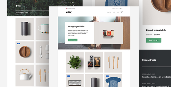 Atik - A Simple WordPress Theme for your Online Store            TFx