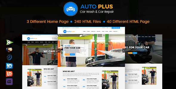 Auto Plus – Car Wash and Car Repair HTML Template            TFx