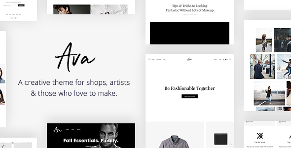 Ava - Creative Shop & Portfolio WordPress Theme for Professionals            TFx