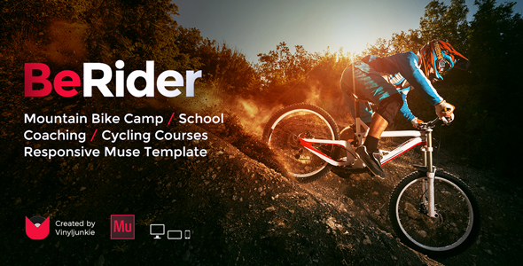 BeRider - Mountain Bike School / MTB Camp / Cycling Courses Responsive Muse Template            TFx