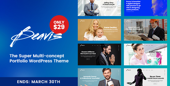 Beavis - Superb Multi-Concept Portfolio WordPress Theme            TFx