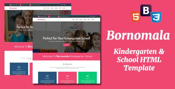 Bornomala - Kindergarten & School HTML Template            TFx