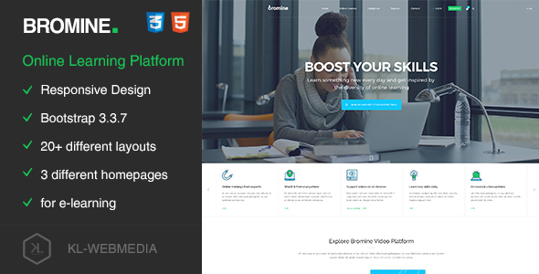 Bromine – Online Learning Platform HTML5 Template            TFx