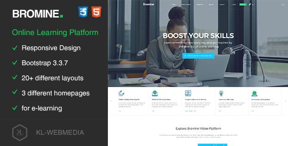 Bromine - Online Learning Platform HTML5 Template            TFx