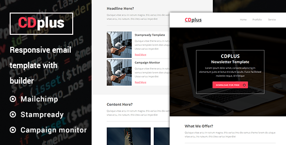 CDplus - Responsive Email template with Stampready builder            TFx