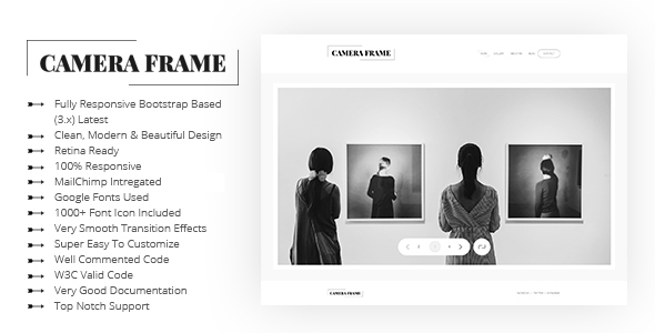 Camera Frame Photography Portfolio Templates            TFx